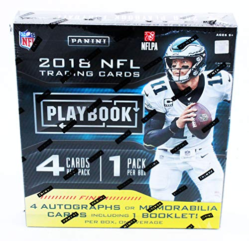 2018 Panini Playbook NFL Football HOBBY box (4 cards)