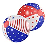 Floating Pool Balls, Kids Pool Float Toys, Big Patriotic Beach Ball Set of 2 (Sold by Case, Pack of 6)