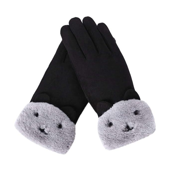 b7789e15adc681 VENMO Damen Mode Winter Outdoor Sport Warme Handschuhe Damen Winter Handschuh  Touchscreen - Fäustlinge Damen Fahrradhandschuhe