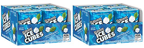 Ice Breakers Peppermint Ice cubess Gum 40 pieces (Pack of 8)