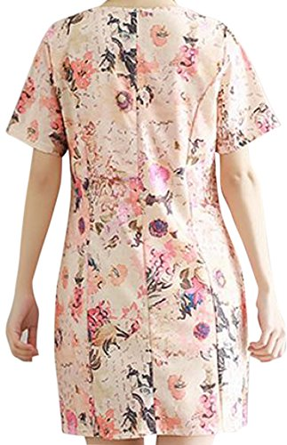 erdbeerloft - Damen Kurzes Kurzarm Kleid mit floralem Print, Rosa, XS-XL ...