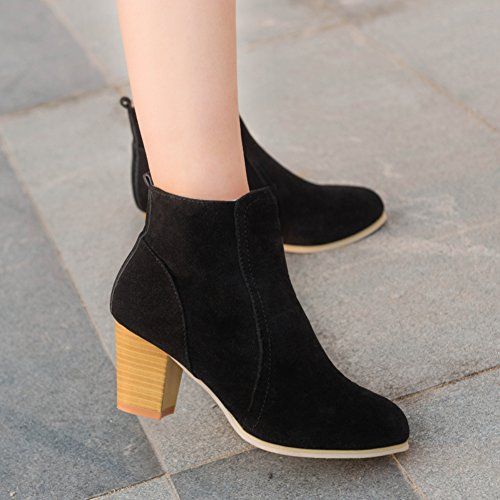 36 Short Cylinder Sunshy Black Ankle Martin Forever Boots Ankle Womens 4qtnz