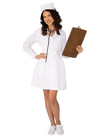 43e7515e5ef21 Amazon.com: Rubie's Retro Nurse Womens Costume: Clothing