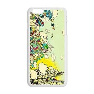Creative Graffiti Town Custom Protective Hard Phone Cae For Iphone 6 Plus