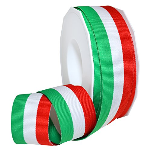 Italian Ribbon (Morex Ribbon 99509/20-816 Polyester Grosgrain Stripes, 1 1/2
