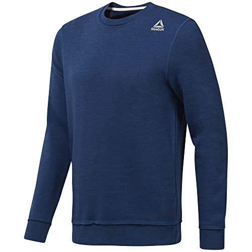 Reebok Men's Elements Marble Melange Crew Sweatshirt