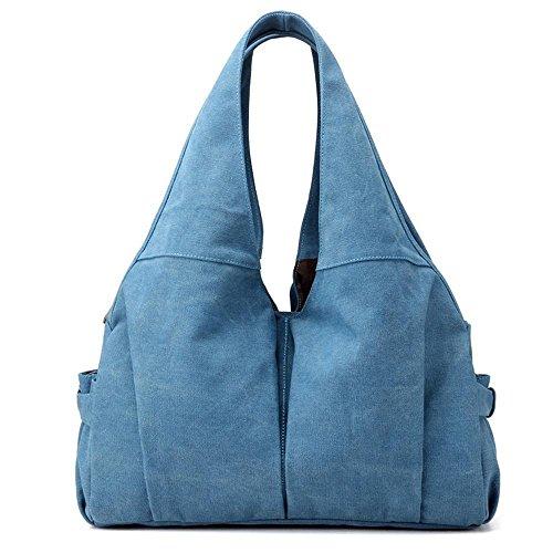 Bolso grande de la letra de la manera del bolso del hombro de la muchacha de la lona Blue