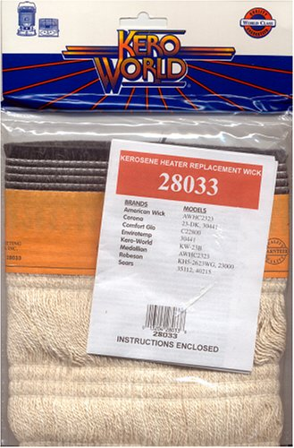 Kero World 28033 23DK/KW23 Kerosene Heater Replacement (A-wick Kerosene Heater Replacement Wick)