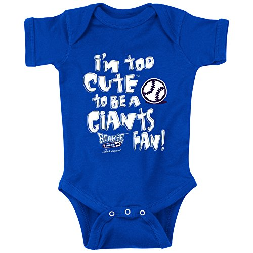 Los Angeles Dodgers Fans. I'm Too Cute Blue Onesie (6M)