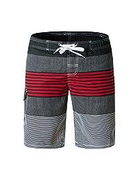 Wodun Men's Quick Dry Swim Trunks Swim Shorts for Surfing Beach