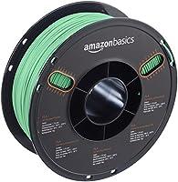 AmazonBasics PLA 3D Printer Filament, 1.75mm, Translucent Green, 1 kg Spool by AmazonBasics
