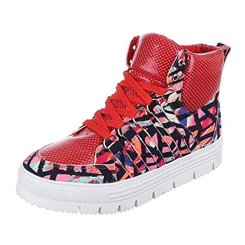 Mujer libre zapatos Ital tiempo rojo Design de Rojo XxZA1gqw