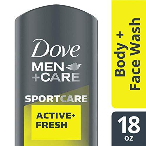 NEW Dove Men+Care SportCare Active + Fresh Body Wash, 18 oz (Face Active Men Wash)