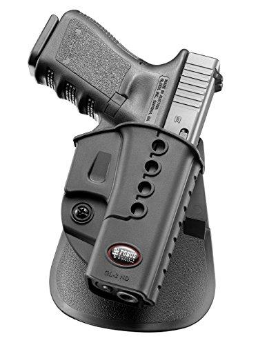 Fobus Oberschenkelapater EXND 2 Pistolenhalfter Plattform + verdeckte Trage Sicherungs-Pistolenhalfter Halfter Holster für Glock 17 19 22 23 31 32 34 35 41 / Walther PK-380