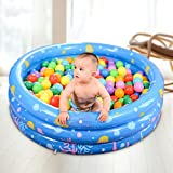 Swimming Pool Family Kids Water Play Fun Cocal, Large Inflatable Swimming Pool Center Lounge Family Kids Water Play Fun Backyard Swim Center Clearview Aquarium Inflatable Pool (Blue)