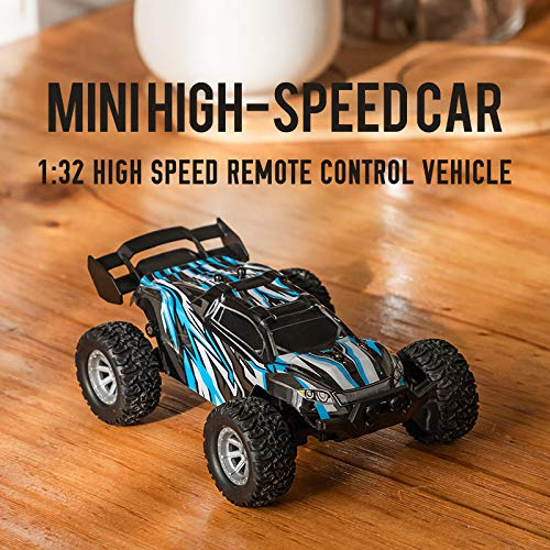 Boy Toy Remote Control Car - dmsbuy 4WD High/Low Speed 20Km/h 1:32 RC Truck, Rapid Monster Vehicle Car with Two Rechargeable Batteries, Gift for Boys Kids and Adults (Monster - 1)