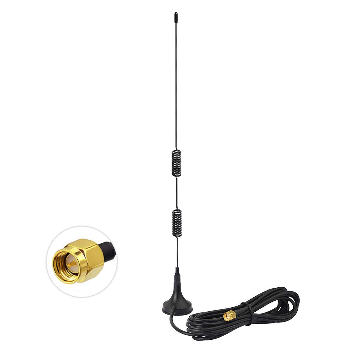 Bingfu Funkger/ät Antenne VHF UHF 136-174 MHz 400-470 MHz Amateurfunk Magnetfu/ß SMA-Stecker Antenne Kompatibel mit Handfunkger/ät Walkie Talkie YAESU VERTAX VX-3R VX-5R VX-6R VX-7R BaoFeng UV-3R