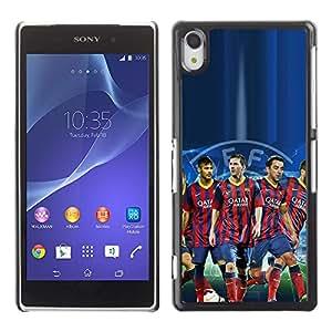 Design for Girls Plastic Cover Case FOR Sony Xperia Z2 Barcelona Soccer Team OBBA