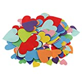 MagiDeal 150 Pieces Assorted Colors Heart Shaped Stickers Self Adhesive DIY Homemade Decoration