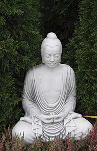 Buda sentado (s101099) Jardín Figura Escultura Estatua de piedra hormigón fundido 49 cm: Amazon.es: Jardín