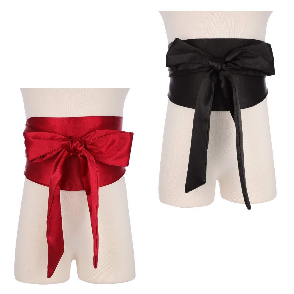 para Ocasiones Especiales Negro Negro Cintur/ón de Doble Cara para Novia jlfhyg