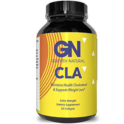 CLA Safflower Oil Weight Loss – Lose Belly Fat – Conjugated Linoleic Acid – Dietary Supplement – Lose Weight Fast – Build Muscle – 100% Natural – For Men & For Women – Made By Griffith Natural