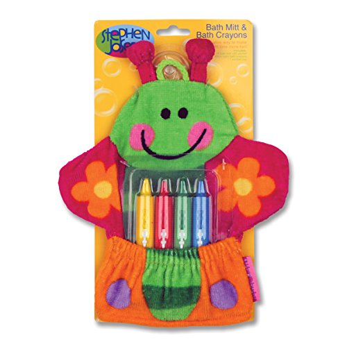 Stephen Joseph Bath Mitt and Crayons, Butterfly ()