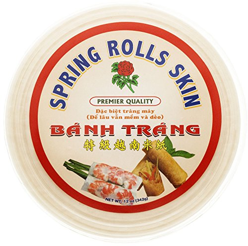 Rose Rice Paper Spring Rolls Skin, 12 Ounce