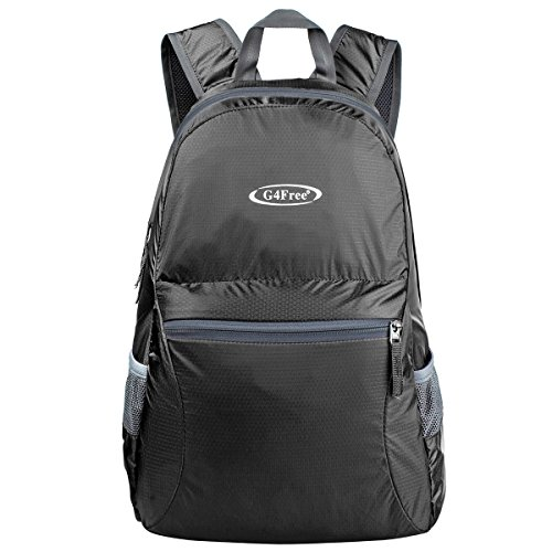 G4Free Ultra Lightweight Packable Backpack Hiking Daypack,Handy Foldable Camping Outdoor Backpack(Black) -