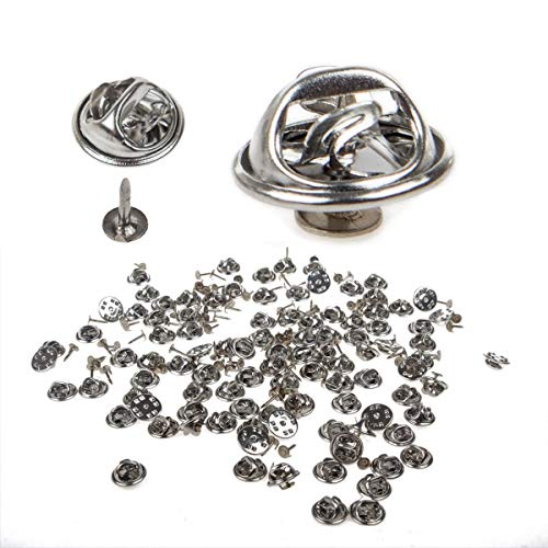38mm for Craft Jewelry Making Kissitty 50-Piece Three Holes Iron Brooch Bar Pins Findings Safety Catch Back Pins Platinum 1.5