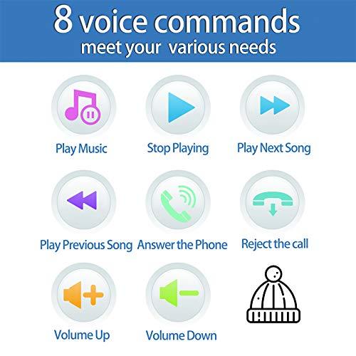 Voice Control Bluetooth Beanie Hats, Smart Music Hat with Headphones, Tech Gifts for Teens Boys, Girls, Men, Women…