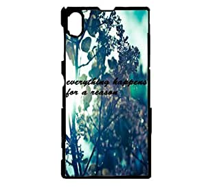 Everything Happens For A Reason Hipster Quote Sony Xperia Z2 Case - Fits Sony Xperia Z2