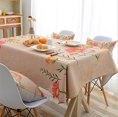 Tao Tischdecke Square Esstisch Tuch pastoralen Druck Wasserdichte Tischdecke (Farbe   F, größe   35.4  55.1inch) B07CVD9JYH Tischdecken Qualität und Quantität garantiert       Ausgezeichnete Qualität