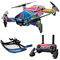 MightySkins Skin for DJI Mavic Air Drone - Rainbow Waves | Max Combo Protective, Durable, and Unique Vinyl Decal wrap cover | Easy To Apply, Remove, and Change Styles | Made in the USA