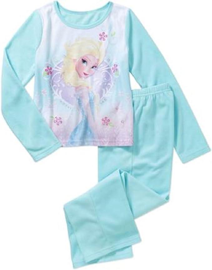 FROZEN Elsa Olaf Toddler Girls FLANNEL Pajamas 2 Piece Set Pants Long Sleeves
