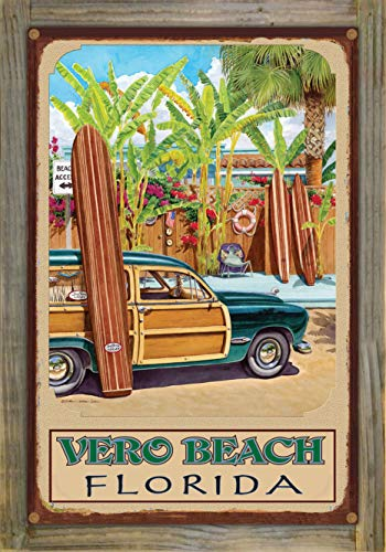 Northwest Art Mall Vero Beach Florida Beach Access Rustic Metal Print on Reclaimed Barn Wood by Evelyn Jenkins Drew (12
