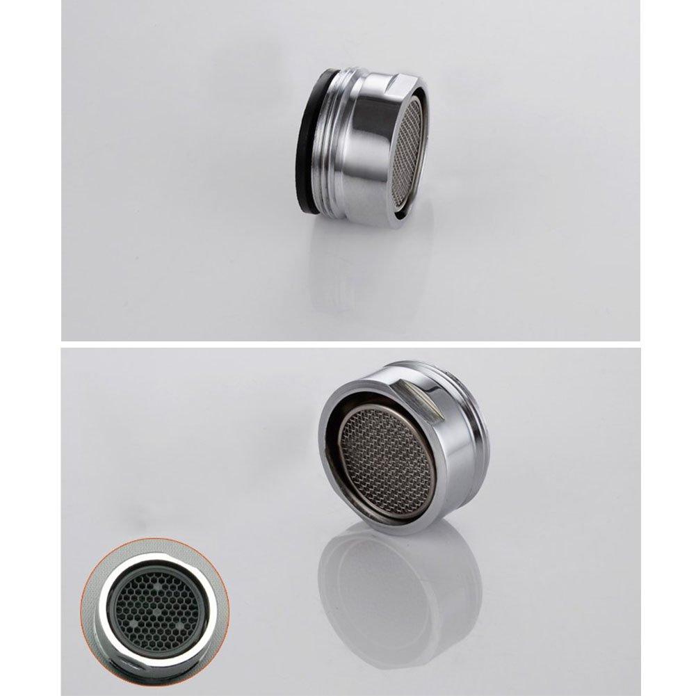 GEZICHTA - Aireador de tapó n de repuesto para tapó n de grifo (24 mm, filtro de grifo, burbujas, ahorro de agua, aireador de grifo de bajo caudal con junta, difusor de tapa, cromado)