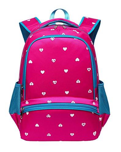 Kids Backpack for Kindergarten Girls School Bags Girly Bookbags (Small,Hot Pink&Blue) ()