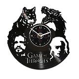 Wall Clock Vintage, Game Of Thrones Vinyl Clock, Jon Snow Gift, Game Of Thrones Wall Clock, Daenerys Clock, Vinyl Wall Clock, Game Of Thrones Gift, Wall Clock Large, GoT Clock, Gift For Man