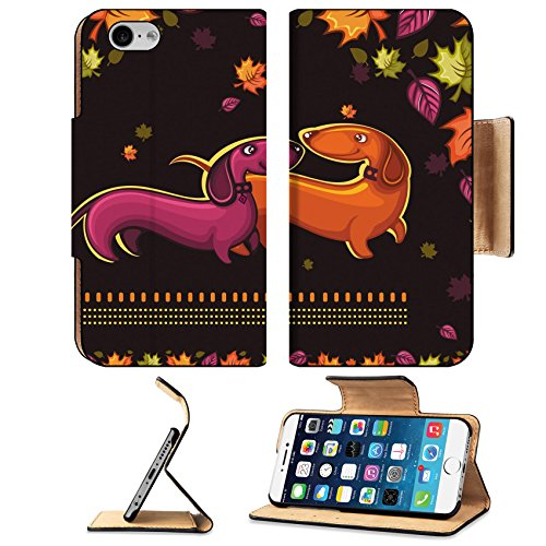 Grass Clipart - MSD Premium Apple iPhone 6 iPhone 6S Flip Pu Leather Wallet Case IMAGE ID: 10363877 Dachshunds love autumn banner