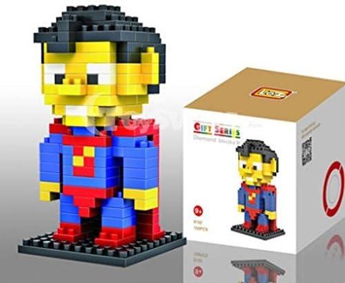 Superman Superhéroe Micro Blocks Figura construible a partir de 9 años (caja incluida enviada plana): Amazon.es: Hogar