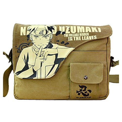 Price comparison product image Joyralcos Japanese Anime Messenger Bag Crossbody Canvas Cosplay Shoulder Bag for Boys Girls (Uzumaki Naruto)