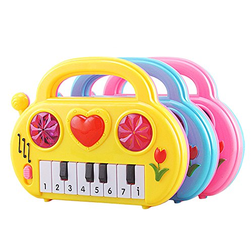 Baby Kids Musical Early Educational Piano Music Toys (Pink) - 1