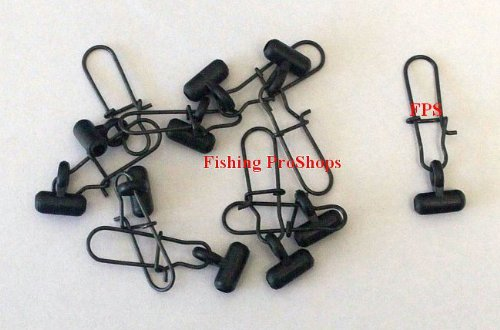 Black Fish Rigs (FPS Fish Finder Sliding Rig - 10 Pack BLACK)