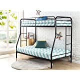 "Zinus Quick Lock Metal Bunk Bed Narrow Twin Cot size 30"" x 75"" over Regular Twin 39"" x 75""/Easy Assembly in Under an Hour"