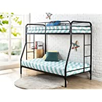 "Zinus Quick Lock Metal Bunk Bed Narrow Twin Cot size 30"" x 75"" over Regular Twin 39"" x 75"" / Easy Assembly in Under an Hour"