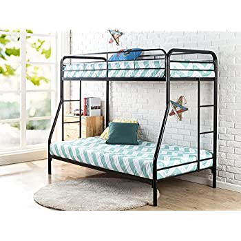 """Zinus Quick Lock Metal Bunk Bed Narrow Twin Cot size 30"""" x 75"""" over Regular Twin 39"""" x 75"""" / Easy Assembly in Under an Hour"""