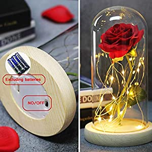 Li-Never Artificial Flower Simulated Rose Home Decoration Ornaments for Girls'Birthday Gifts and New Year Gifts,01 4