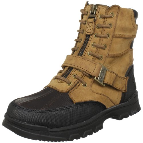 Polo by Ralph Lauren Little Kid/Big Kid Holden Boot,Tan-Chocolate Crazyhorse,5.5 M US Big Kid