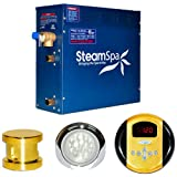Steam Spa IN1050GDC Indulgence Complete Package with 10.5kW Steam Generator, Gold